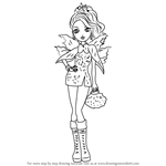 How to Draw Faybelle Thorn from Ever After High