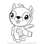 How to Draw Deeraloo from Hatchimals