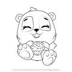 How to Draw Giggling Pandor from Hatchimals