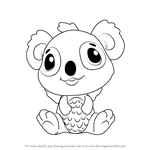 How to Draw Koalabee from Hatchimals