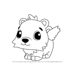 How to Draw Polar Hummingbear from Hatchimals