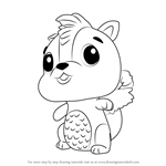How to Draw Skunkle from Hatchimals