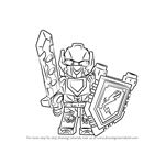 How to Draw Clay from Lego Nexo Knights