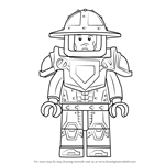 How to Draw Knight from Lego Nexo Knights