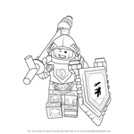 How to Draw Lance Richmond from Lego Nexo Knights
