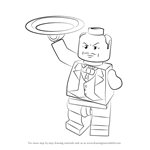 How to Draw Lego Alfred Pennyworth