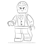 How to Draw Lego Bruce Wayne