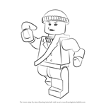 How to Draw Lego Captain Boomerang