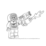 How to Draw Lego Captain Cold