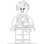 How to Draw Lego Captain Marvel aka Carol Danvers