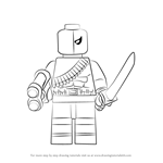 How to Draw Lego Deathstroke