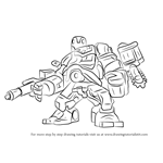 How to Draw Lego Detroit Steel
