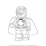 How to Draw Lego Dick Grayson aka Robin