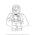 How to Draw Lego Dick Grayson aka Robin