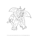 How to Draw Lego Fin Fang Foom