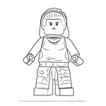 How to Draw Lego Gorilla Girl