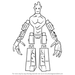 How to Draw Lego Groot