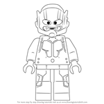 How to Draw Lego Hank Pym