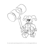 How to Draw Lego Harley Quinn