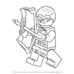 How to Draw Lego Hawkeye