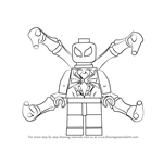 How to Draw Lego Iron Spider