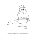 How to Draw Lego Kraven the Hunter