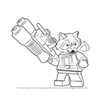 How to Draw Lego Rocket Raccoon