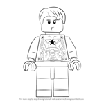 How to Draw Lego Steve Rogers