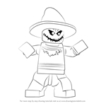 How to Draw Lego The Scarecrow