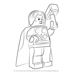 How to Draw Lego Thor