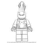 How to Draw Lego White Tiger