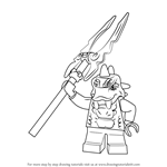 How to Draw Bytar from Ninjago