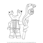 How to Draw Fangdam from Ninjago