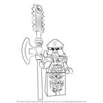 How to Draw Golden Master from Ninjago