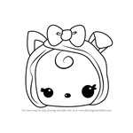 How to Draw Becca Bacon from Num Noms