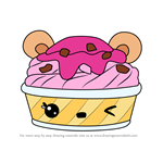 How to Draw Berry Sherbet from Num Noms