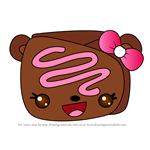 How to Draw Choco Crepe from Num Noms