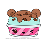 How to Draw Choco-Mint Froyo from Num Noms