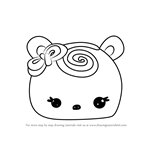 How to Draw Choco Swirl from Num Noms
