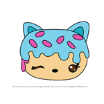 How to Draw Cotton Candy Donut from Num Noms