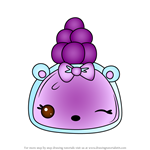 How to Draw Grape Polish-It from Num Noms