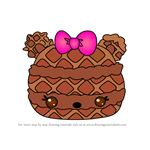 How to Draw Latte Crisp from Num Noms