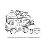 How to Draw Lipgloss Truck from Num Noms