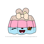 How to Draw Mallow Flip from Num Noms