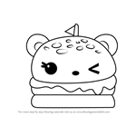 How to Draw Melty Burger from Num Noms