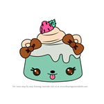 How to Draw Mint E. Jiggle from Num Noms