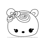 How to Draw Nana Swirl from Num Noms