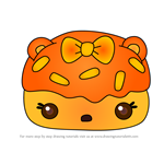 How to Draw Orange Donut Gloss-Up from Num Noms