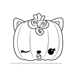 How to Draw Paula Pumpkin from Num Noms