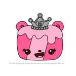 How to Draw Princess B.G. Jelly Roll from Num Noms